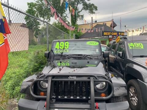 2013 Jeep Wrangler Unlimited for sale at Best Cars R Us LLC in Irvington NJ