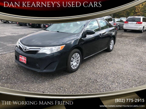2012 Toyota Camry for sale at DAN KEARNEY'S USED CARS in Center Rutland VT