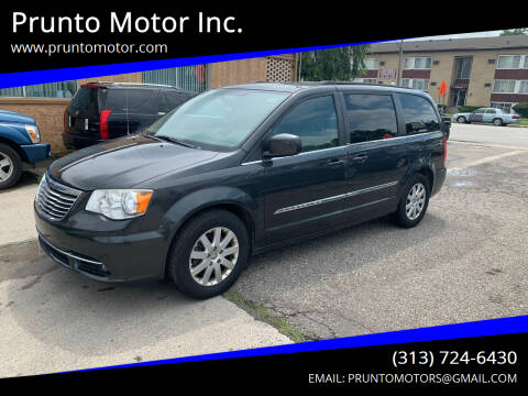 2012 Chrysler Town and Country for sale at Prunto Motor Inc. in Dearborn MI
