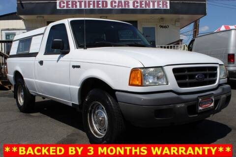 2003 Ford Ranger for sale at CERTIFIED CAR CENTER in Fairfax VA