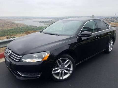 2012 Volkswagen Passat for sale at Trini-D Auto Sales Center in San Diego CA