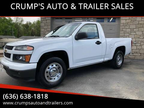 2012 Chevrolet Colorado for sale at CRUMP'S AUTO & TRAILER SALES in Crystal City MO