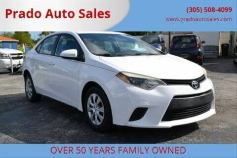 2014 Toyota Corolla for sale at Prado Auto Sales in Miami FL