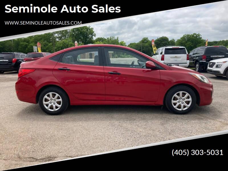 2012 Hyundai Accent for sale at Seminole Auto Sales in Seminole OK