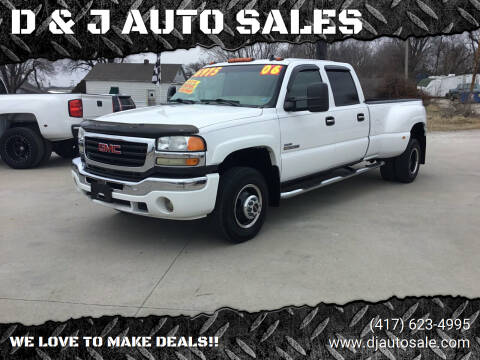 2006 GMC Sierra 3500 for sale at D & J AUTO SALES in Joplin MO