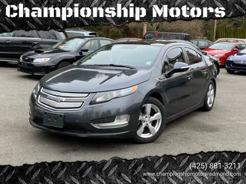 2012 Chevrolet Volt for sale at Championship Motors in Redmond WA