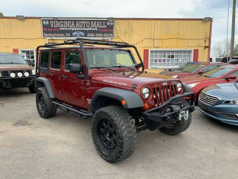 2010 Jeep Wrangler Unlimited for sale at Virginia Auto Mall in Woodford VA