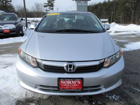 2012 Honda Civic for sale at NORM'S USED CARS INC in Wiscasset ME