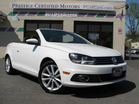 2012 Volkswagen Eos for sale at Prestige Certified Motors in Falls Church VA