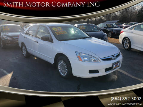2007 Honda Accord for sale at Smith Motor Company INC in Mc Cormick SC