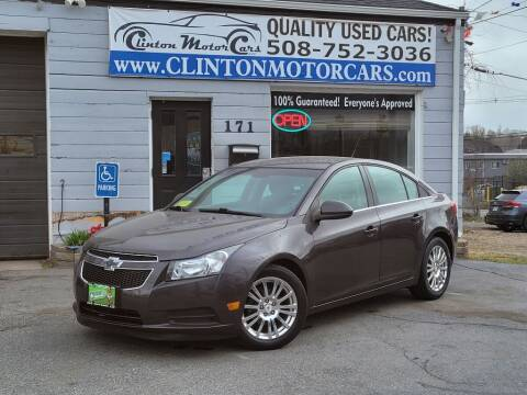 2014 Chevrolet Cruze for sale at Clinton MotorCars in Shrewsbury MA