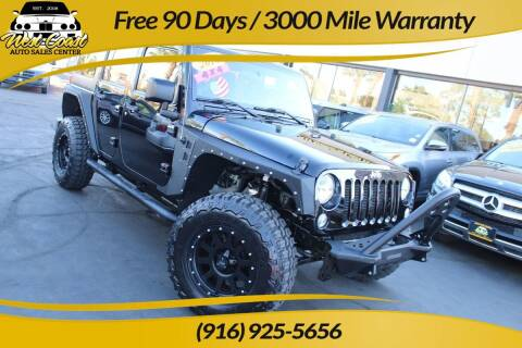 2014 Jeep Wrangler Unlimited for sale at West Coast Auto Sales Center in Sacramento CA