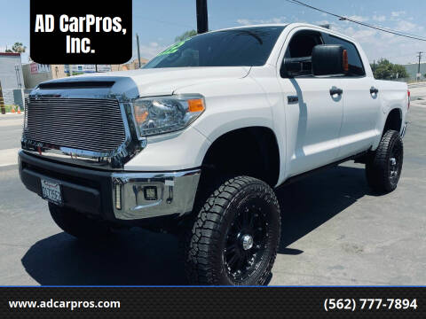 2015 Toyota Tundra for sale at AD CarPros, Inc. in Whittier CA