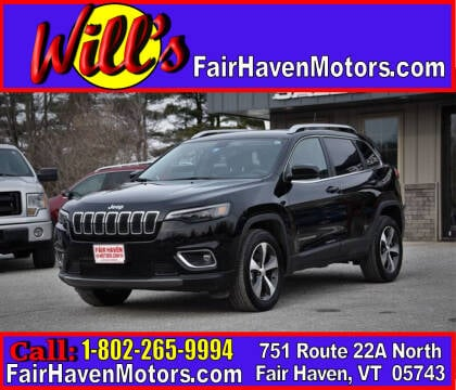 2020 Jeep Cherokee for sale at Will's Fair Haven Motors in Fair Haven VT