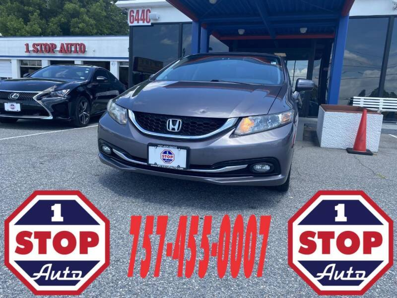 2014 Honda Civic for sale at 1 Stop Auto in Norfolk VA