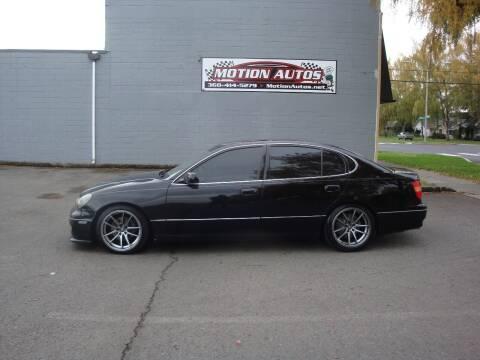 2000 Lexus GS 300 for sale at Motion Autos in Longview WA