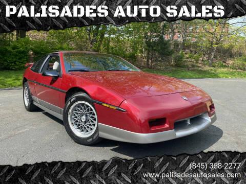 1987 Pontiac Fiero for sale at PALISADES AUTO SALES in Nyack NY