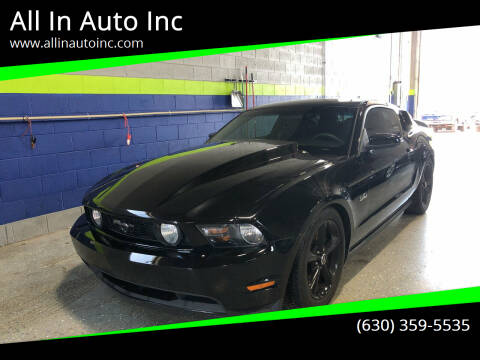 2012 Ford Mustang for sale at All In Auto Inc in Addison IL