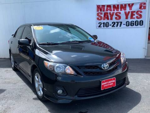 2011 Toyota Corolla for sale at Manny G Motors in San Antonio TX