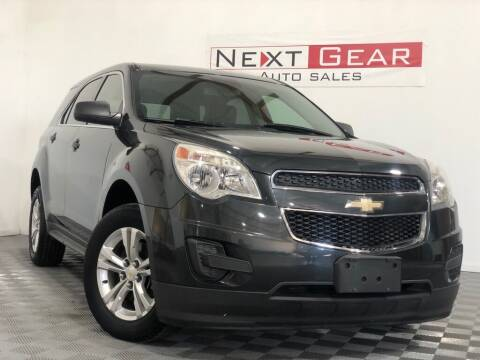 2013 Chevrolet Equinox for sale at Next Gear Auto Sales in Westfield IN