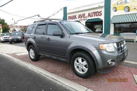 2010 Ford Escape for sale at PARK AVENUE AUTOS in Collingswood NJ