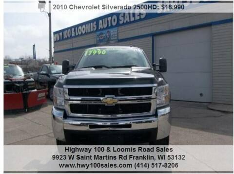 2010 Chevrolet Silverado 2500HD for sale at Highway 100 & Loomis Road Sales in Franklin WI
