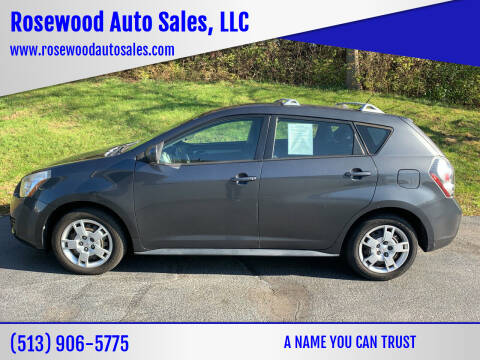 2009 Pontiac Vibe for sale at Rosewood Auto Sales, LLC in Hamilton OH