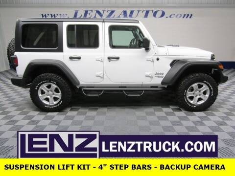2019 Jeep Wrangler Unlimited for sale at LENZ TRUCK CENTER in Fond Du Lac WI