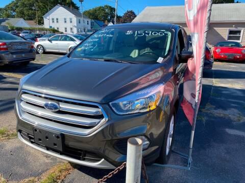 2017 Ford Escape for sale at Volare Motors in Cranston RI