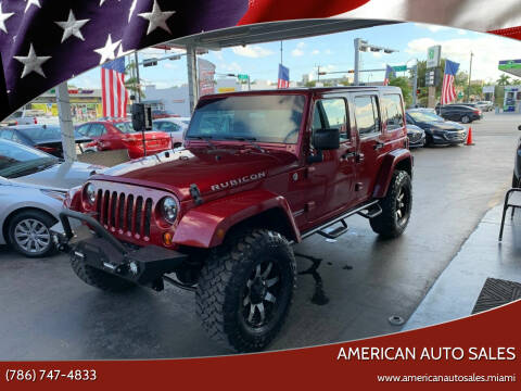 2013 Jeep Wrangler Unlimited for sale at American Auto Sales in Hialeah FL