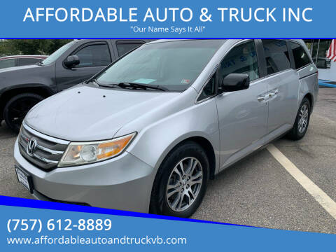 2011 Honda Odyssey for sale at AFFORDABLE AUTO & TRUCK INC in Virginia Beach VA