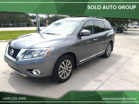 2015 Nissan Pathfinder for sale at Solo Auto Group in Mckinney TX