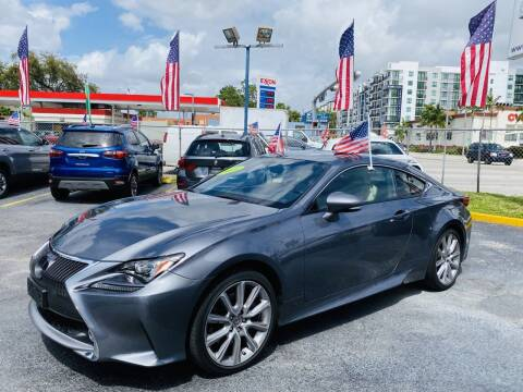 2015 Lexus RC 350 for sale at CHASE MOTOR in Miami FL
