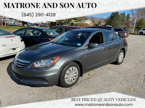 2012 Honda Accord for sale at Matrone and Son Auto in Tallman NY