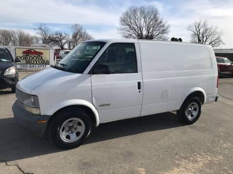 2002 Chevrolet Astro Cargo for sale at Cordova Motors in Lawrence KS