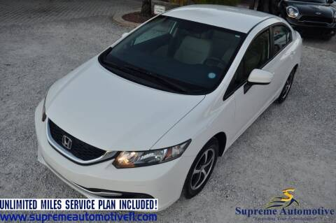 2015 Honda Civic for sale at Supreme Automotive in Land O Lakes FL