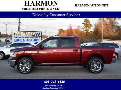 2018 RAM Ram Pickup 1500 for sale at Harmon Premium Pre-Owned in Benton AR