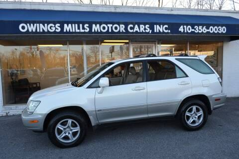 2002 Lexus RX 300 for sale at Owings Mills Motor Cars in Owings Mills MD