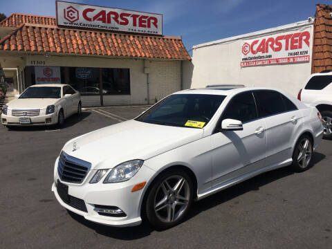 2013 Mercedes-Benz E-Class for sale at CARSTER in Huntington Beach CA