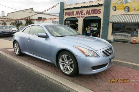 2010 Infiniti G37 Convertible for sale at PARK AVENUE AUTOS in Collingswood NJ