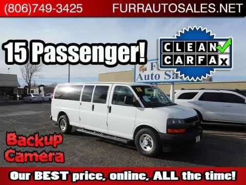 2018 Chevrolet Express Passenger for sale at FURR AUTO SALES in Lubbock TX