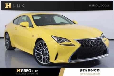 2018 Lexus RC 300 for sale at HGREG LUX EXCLUSIVE MOTORCARS in Pompano Beach FL