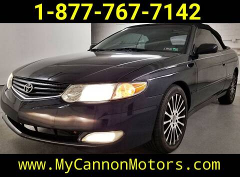 2002 Toyota Camry Solara for sale at Cannon Motors in Silverdale PA