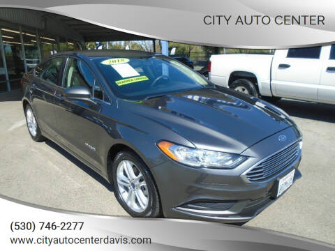 2018 Ford Fusion Hybrid for sale at City Auto Center in Davis CA