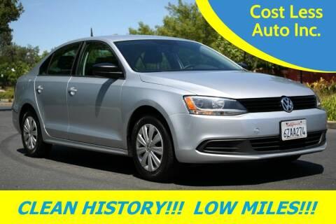 2013 Volkswagen Jetta for sale at Cost Less Auto Inc. in Rocklin CA