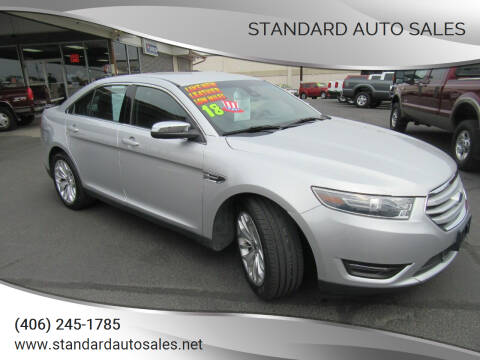 2018 Ford Taurus for sale at Standard Auto Sales in Billings MT