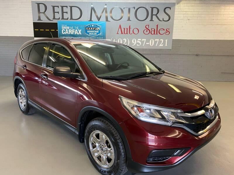 2015 Honda CR-V for sale at REED MOTORS LLC in Phoenix AZ