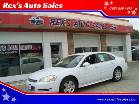 2013 Chevrolet Impala for sale at Rex's Auto Sales in Junction City KS