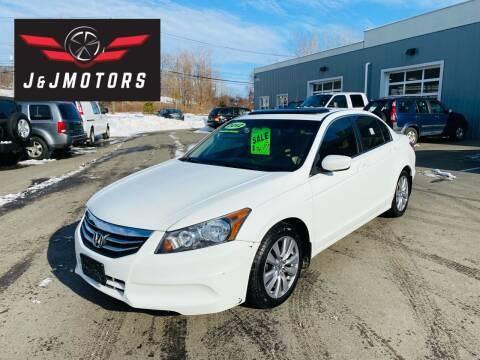 2012 Honda Accord for sale at J & J MOTORS in New Milford CT