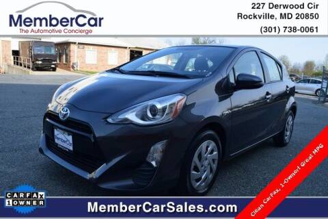 2016 Toyota Prius c for sale at MemberCar in Rockville MD